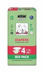 MUUMI BABY pieluchy Big Pack roz. 4 MAXI (7-14 kg) 69 szt.