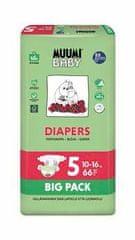 MUUMI BABY pieluchy Big Pack roz. 5 MAXI+ (10-16 kg) 66 szt.