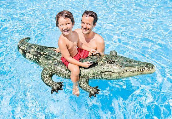 Intex napihljiv krokodil 57551, 170x86cm