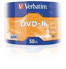 Verbatim DVD-R AZO 4,7GB, 16x, wrap 50 ks (43788)