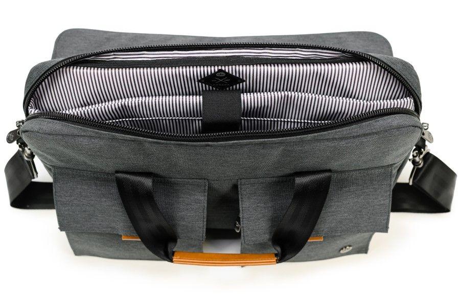 Torba richmond laptop messenger notebook (PKG-RICH-GY01TN) notranja podloga premišljen organizator sprednji raztegljivi žepi