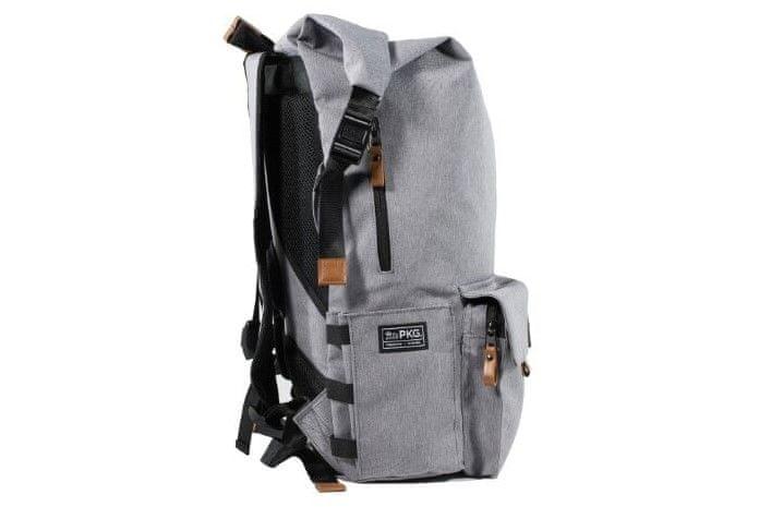 PKG Concord Laptop Backpack (PKG-CONC-LG01TN) oblazinjene naramnice žep na boku oblazinjeno hrbtišče