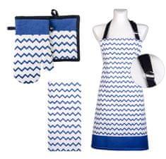 My Best Home zestaw kuchenny TWISTER 100% bawełna, niebieski