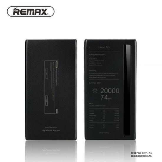 REMAX Linon 2 Series RPP-136 prenosna baterija, 20000mAh, 2USB