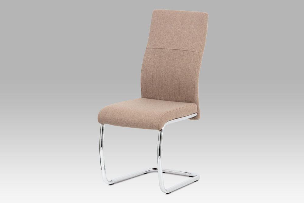 Autronic Jídelní židle látková v barvě cappuccino DCL-450 CAP2