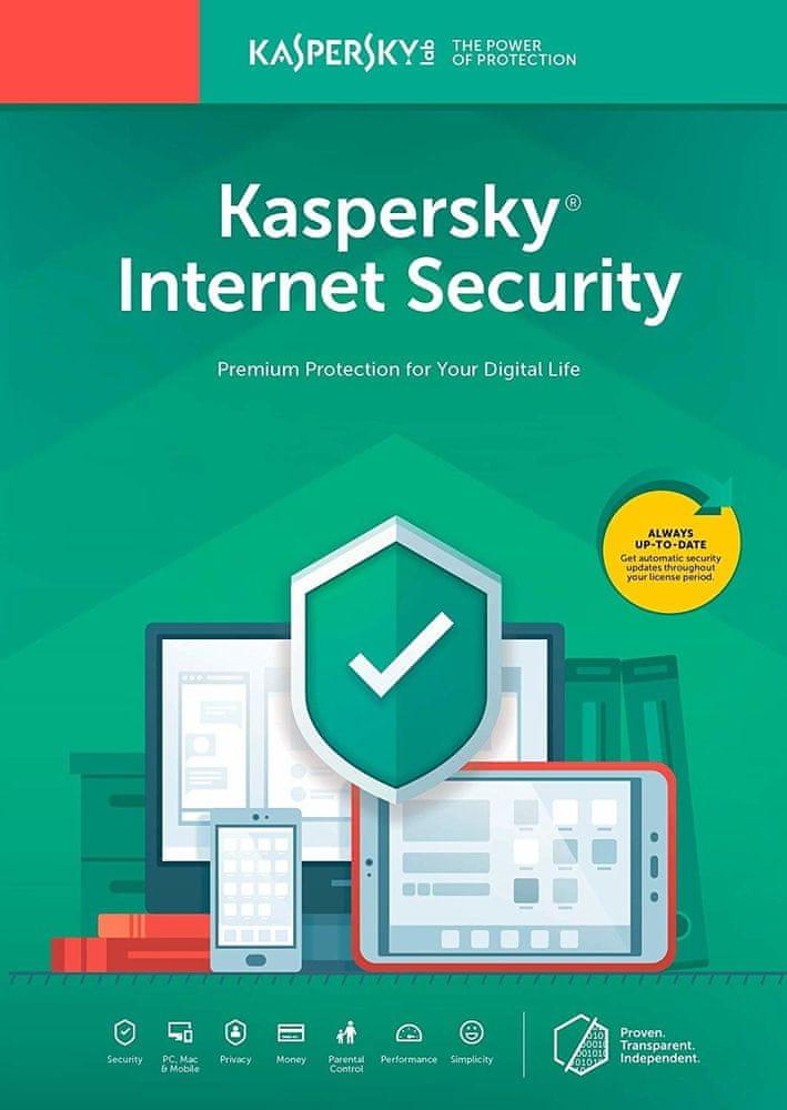 Kaspersky Internet-Security 2019 CZ pro 10 zařízení na 12 měsíců (KL1939XCKFS) - Elektronická licence