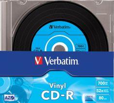 Verbatim CD-R AZO 700MB, 52x, vinyl, slim case 10 ks (43426)