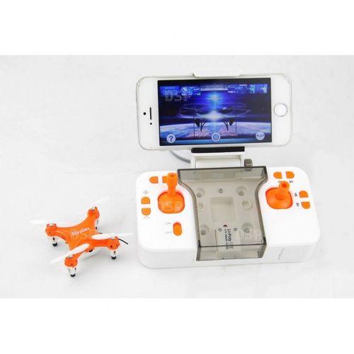 Funtom 1W, nejmenší dron s wifi kamerou na světě, BAROMETR AUTO START A PŘISTÁNÍ, oranžový