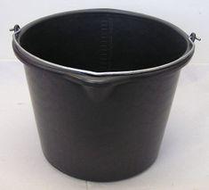 Max Murárske vedro IWIR12L čierne plastové s výlevkou 12L
