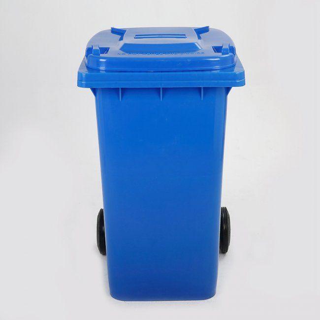 Maxeuro D120BL Popelnice 120L modrá plastová s kolečky
