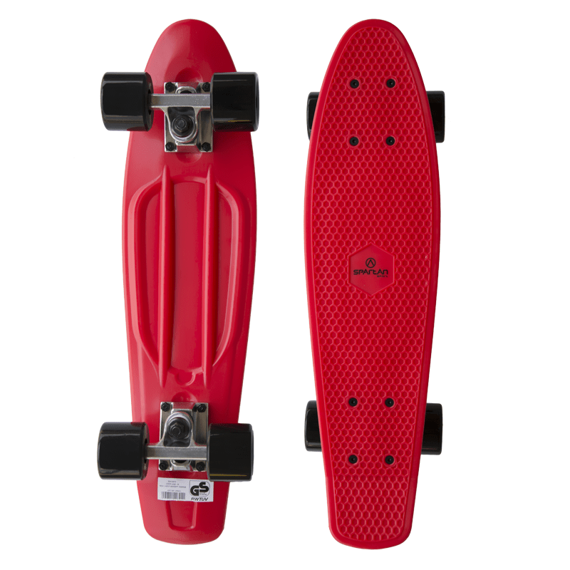 Spartan plastic Penny Board - červený