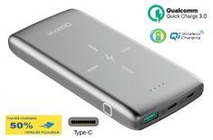 Platinet PMPB10QIBP prenosna baterija Power Bank, 10000 mAh, Quick Charge 3.0, 10 W, srebrna
