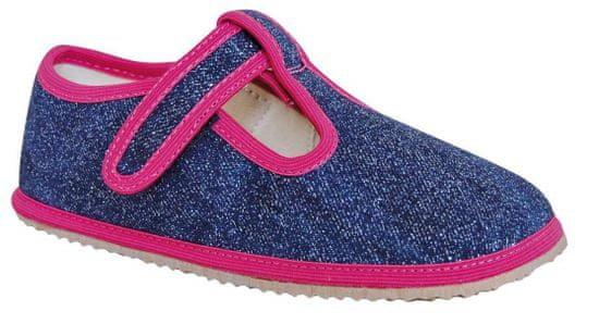 Protetika dekliški čevlji Raven denim, roza/modri