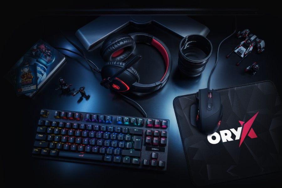 Herné slúchadlá Niceboy ORYX X300 (Oryx-x-300) sklápací mikrofón odolná čelenka flexibilný kvalitný materiál komponenty