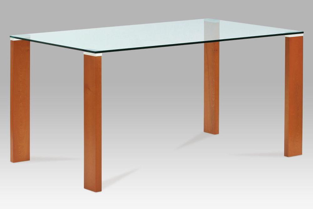 Autronic Jídelní stůl skleněný barva třešeň BT-6750 TR2