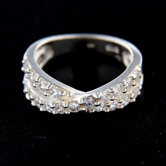 Amiatex Ezüst gyűrű 14806 + Nőin zokni Gatta Calzino Strech, 54