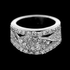 Amiatex Stříbrný prsten 14945, 49
