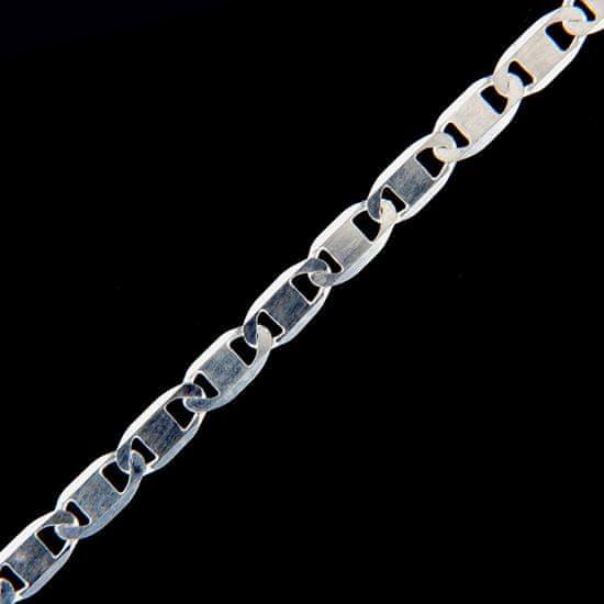 Amiatex Ezüst lánc 15485 + Nőin zokni Gatta Calzino Strech, 42, 6.8 G
