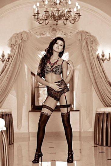 Róza Női melltartó Solaria black + Nőin zokni Gatta Calzino Strech