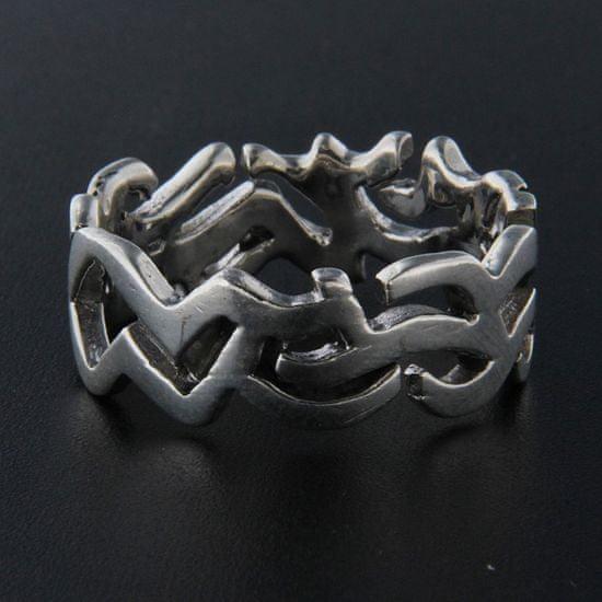 Amiatex Strieborný prsteň 13948 + Nadkolienky Gatta Calzino Strech, 61