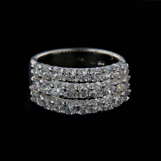 Amiatex Ezüst gyűrű 14326 + Nőin zokni Gatta Calzino Strech, 56