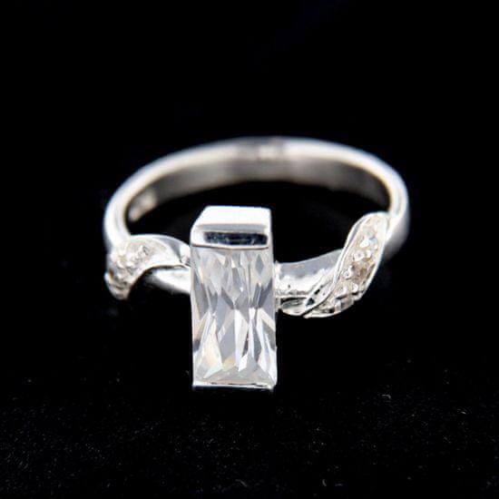 Amiatex Ezüst gyűrű 14801 + Nőin zokni Gatta Calzino Strech, 51