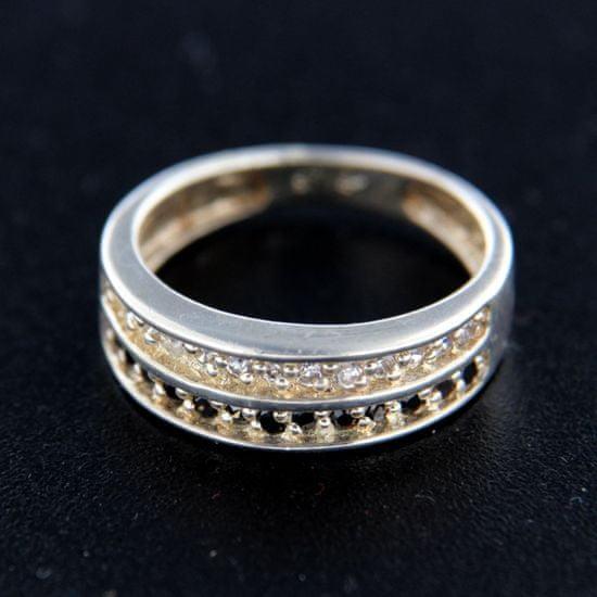 Amiatex Ezüst gyűrű 14853 + Nőin zokni Gatta Calzino Strech
