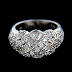 Amiatex Stříbrný prsten 14830, 49
