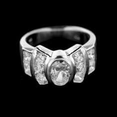 Amiatex Stříbrný prsten 14944, 49