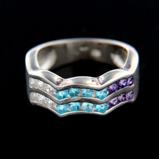 Amiatex Ezüst gyűrű 14857, 55