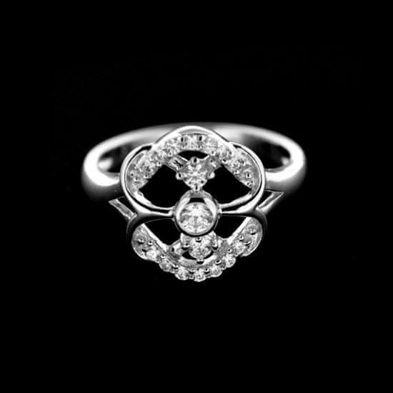 Amiatex Strieborný prsteň 14922, 51