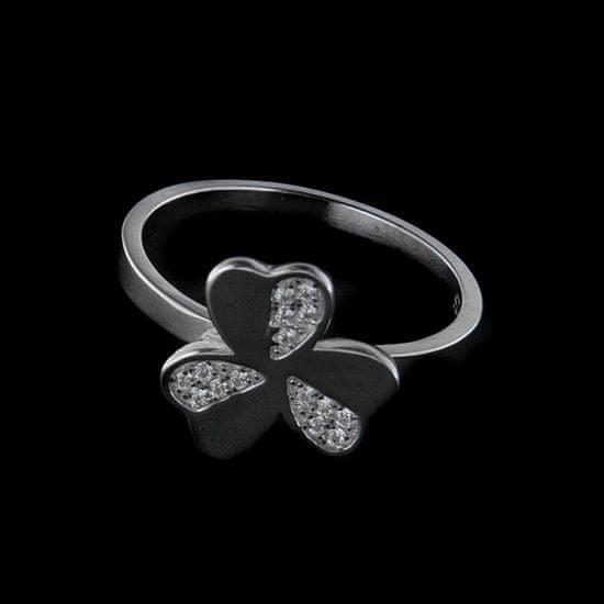 Amiatex Strieborný prsteň 25423 + Nadkolienky Gatta Calzino Strech, 57