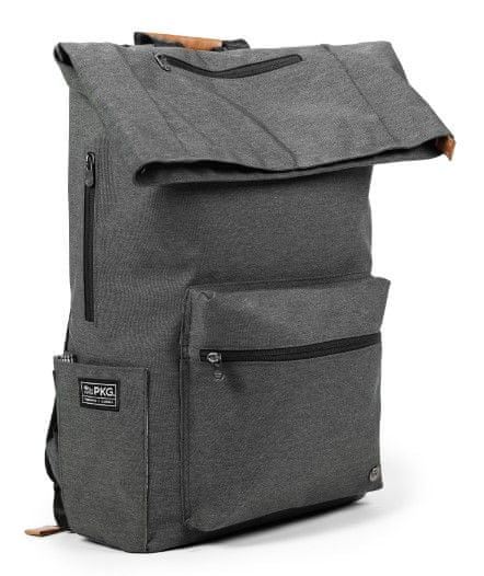 "PKG Brighton Laptop Backpack 15"", tmavě šedý (PKG-BRIG-GY01TN)"