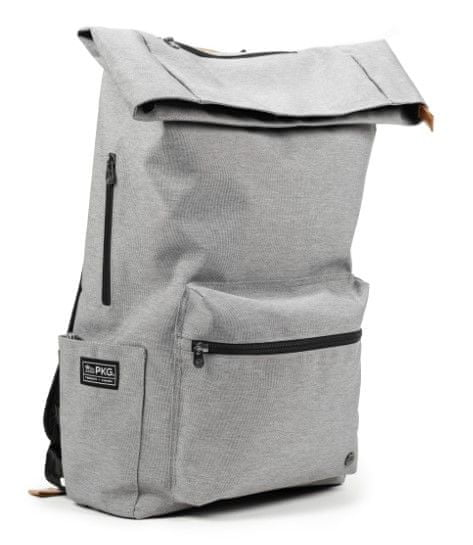 "PKG Brighton Laptop Backpack 15"", světle šedý (PKG-BRIG-LG01TN)"