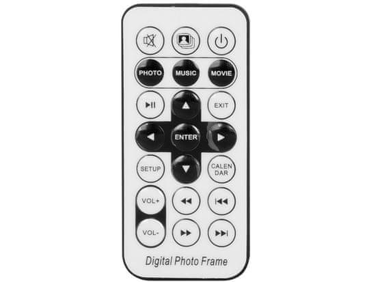 Trevi DPL2243 digitalni foto okvir, 2 zvočnika, daljinski upravljalnik, črn - Odprta embalaža