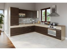 Nejlevnější nábytek Rohová kuchyně RUTHIN 275x300, rijeka tmavá