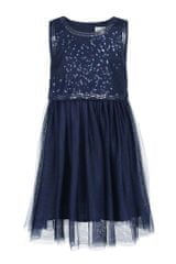 dekliška obleka, modra, 86