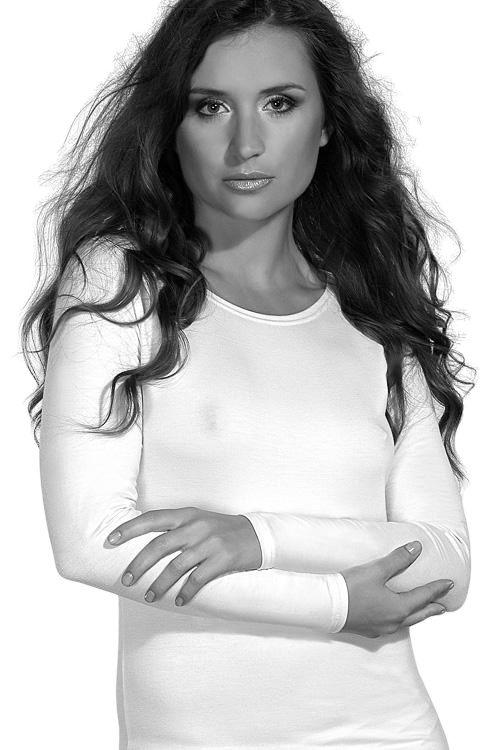 Violana Dámská halenka Violana Tosca white - dlouhý rukáv bílá XL