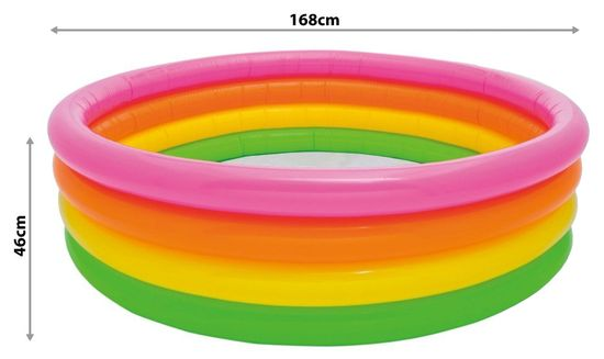 Intex 56441 Bazén nafukovací 4 komory 168x46cm