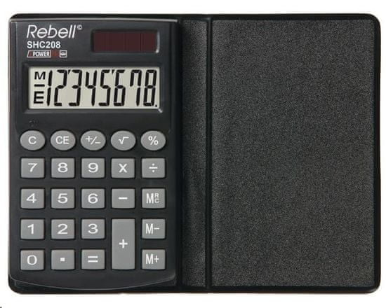 Rebell kalkulator SHC208, czarny (RE-SHC208 BX)