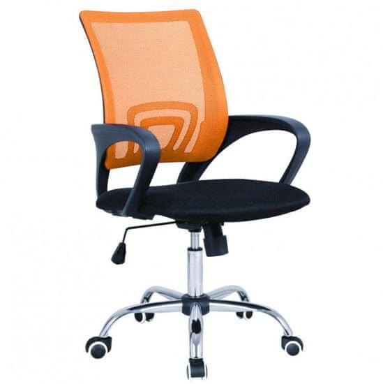 Pisarniški stol Riva, oranžen