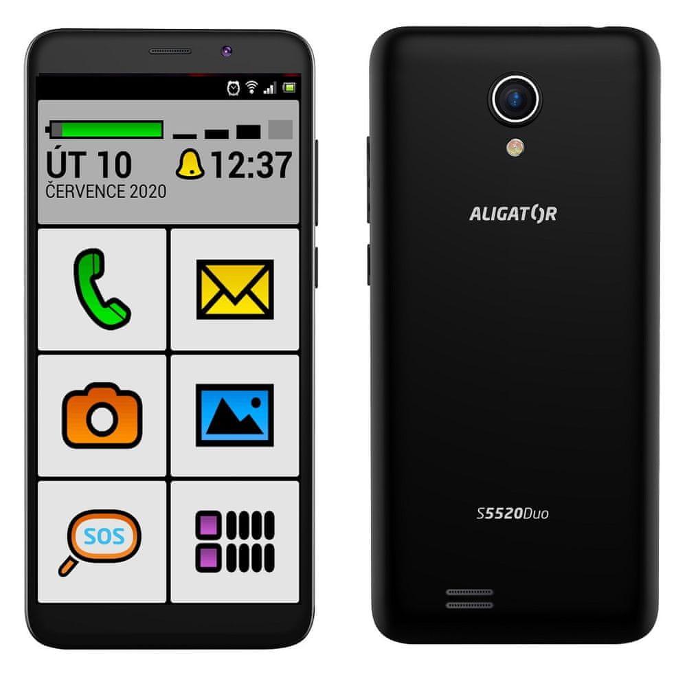 Aligator S5520 Duo Senior, 1GB/16GB, černý