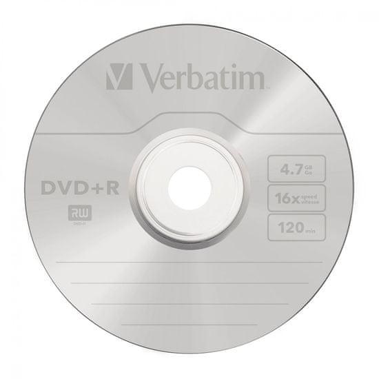 VERBATIM DVD+R AZO 4,7GB, 16×, spindle 10 ks (43498)