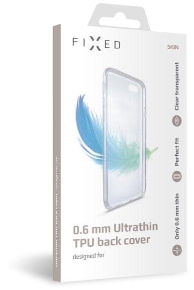FIXED Ultratenké TPU gelové pouzdro Skin pro Xiaomi Redmi 8A, 0,6 mm, čiré (FIXTCS-466) - zánovní