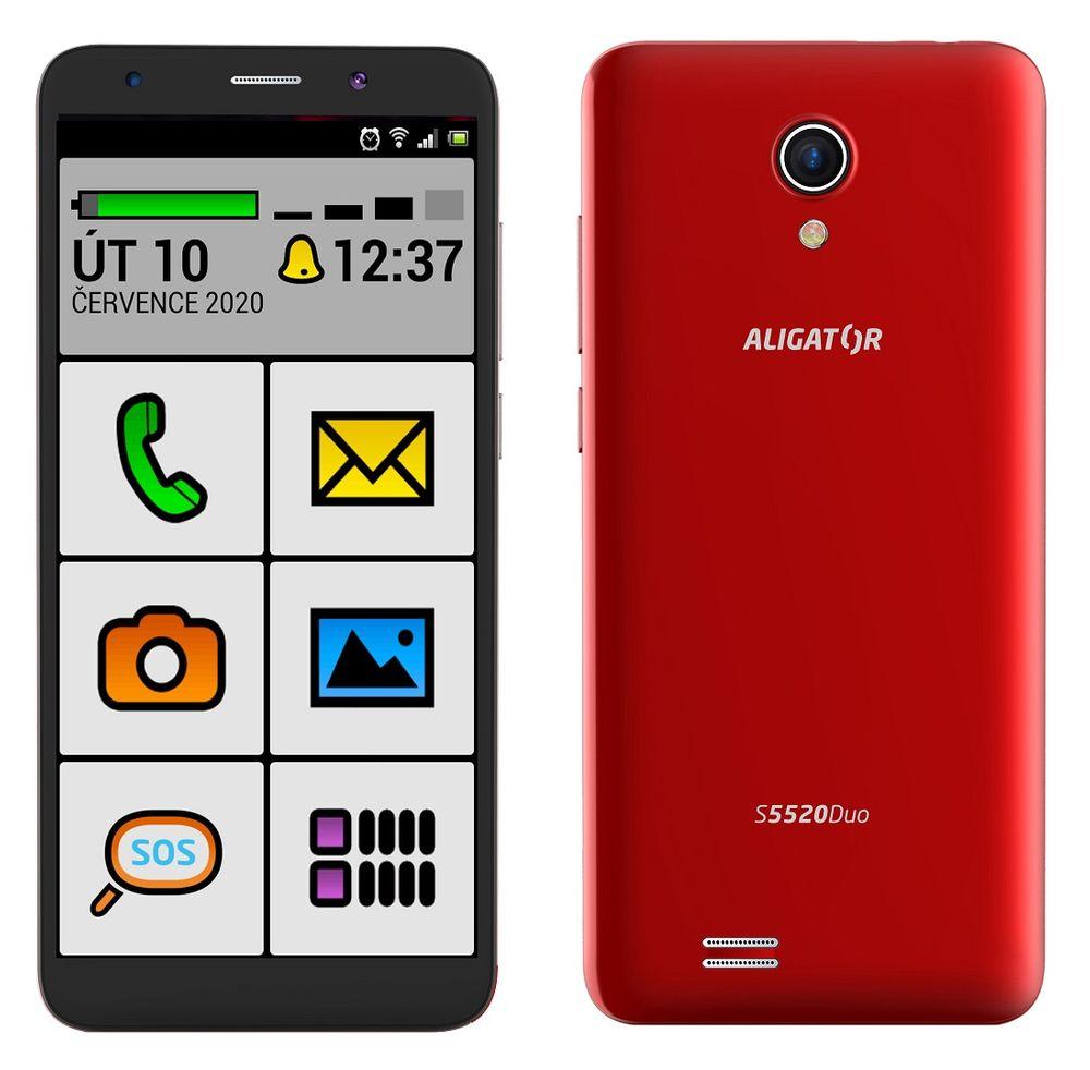 Aligator S5520 Duo Senior, 1GB/16GB, červený