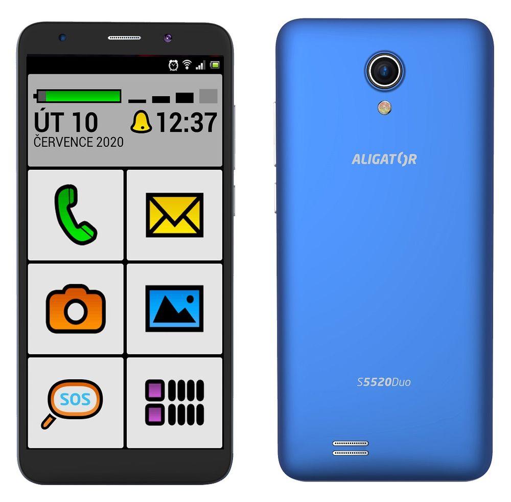 Aligator S5520 Duo Senior, 1GB/16GB, modrý - zánovní