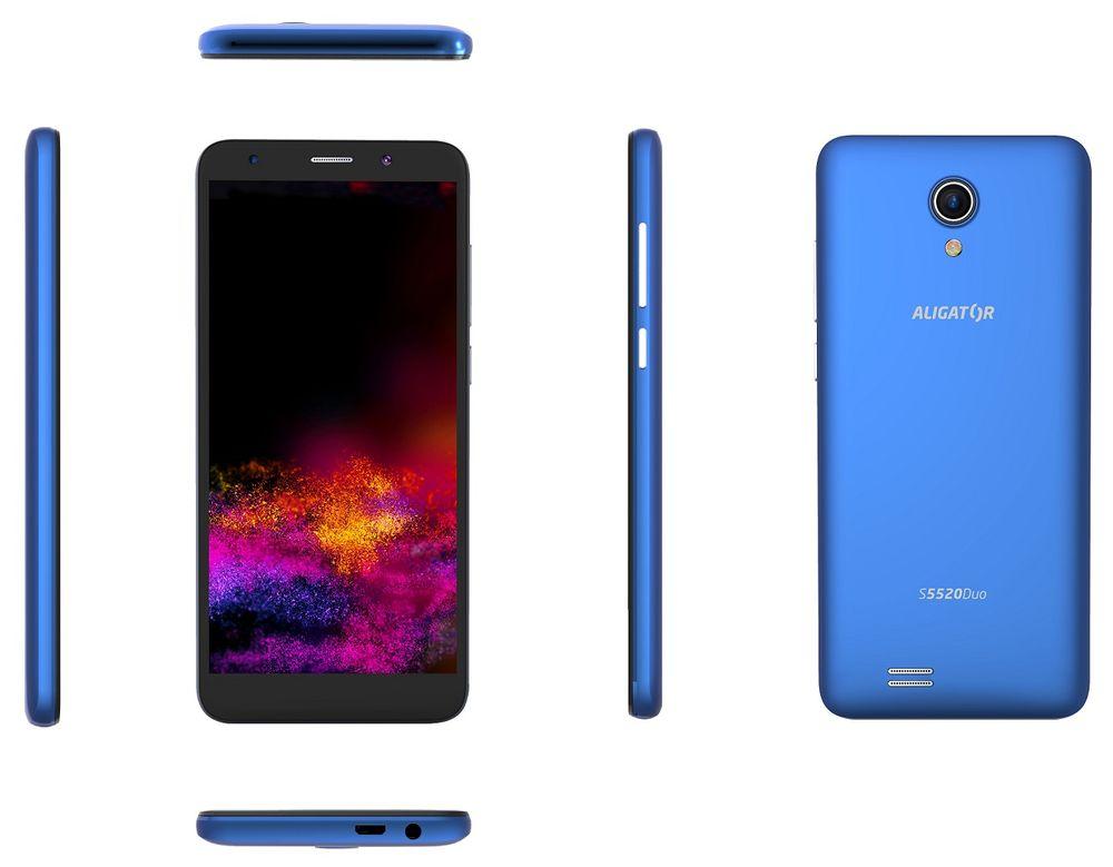 Aligator S5520 Duo Senior, 1GB/16GB, modrý - rozbaleno