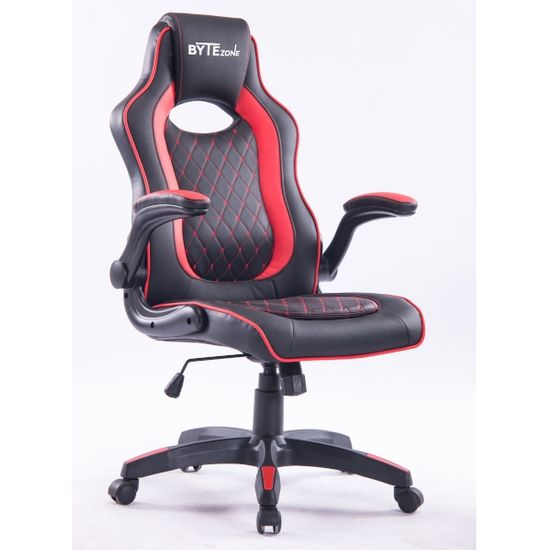 Bytezone Sniper gaming stol, črno-rdeč