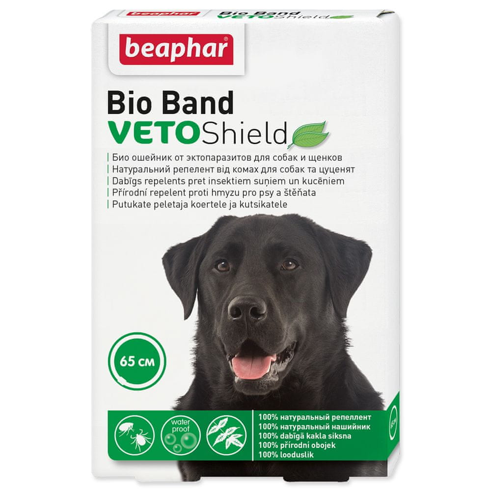 Beaphar Obojek repelentní Bio Band Veto Shield 65 cm