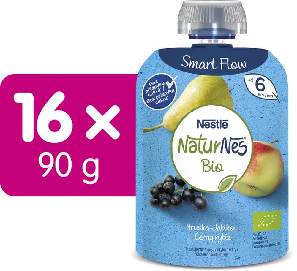 Nestlé NATURNES BIO kapsička Hruška Jablko Černý rybíz 16x90 g